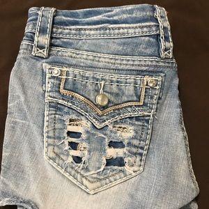 Rock Revival light wash jean shorts